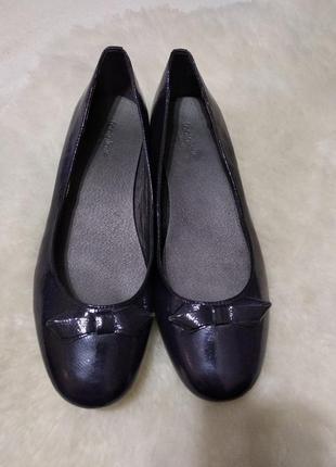 Шкіряні туфлі (балетки) footglove на низькому каблуку.