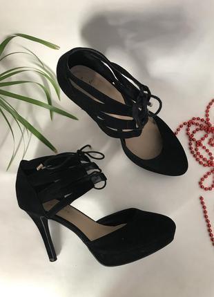 Туфли на каблуке замшевые