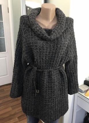Тёплый свитер туника платье