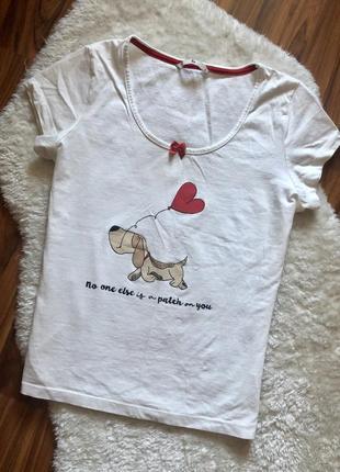 Крутая котоновая домашняя футболка
