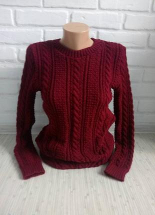 Свитер вязаный# свитер вязаный узорной вязкой# молодежный свитер