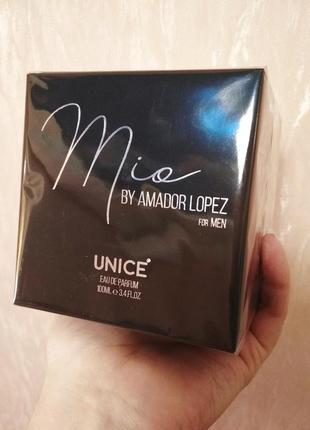 Мужская парфюмерная вода настоящая любовь mio by amador lopez unice, 100 мл турция
