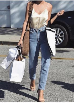 Zara mom jeans мам джинсы