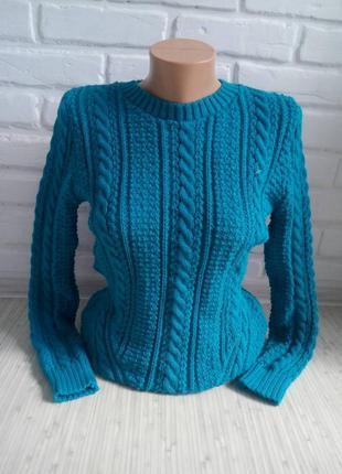 Свитер вязаный# свитер с узором#молодежный  джемпер
