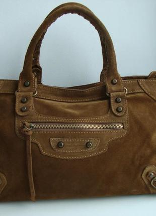 Итальянская замшевая сумка vera pelle