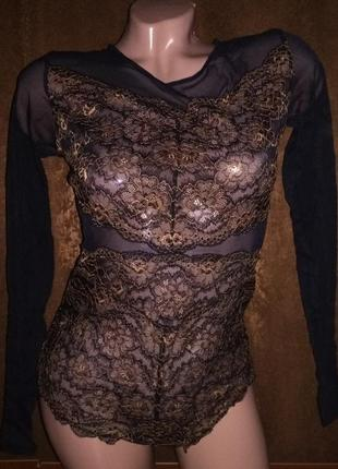 Шикарне боді з рукавом esmara lingerie.