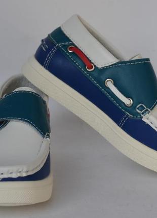 Кожаные мокасины туфли тм b&g