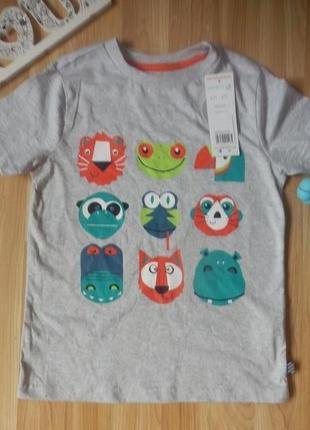Новая фирменная футболка f&f мальчику 6-7 лет1