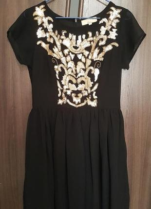 Платье шифоновое, разм м