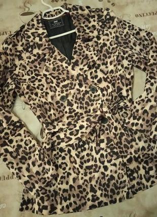 Хит сезона!фирменное леопардовое пальто плащ max