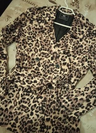 Хит сезона!фирменное леопардовое пальто плащ max2 фото