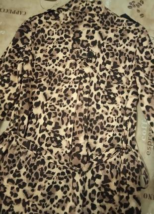 Хит сезона!фирменное леопардовое пальто плащ max4 фото