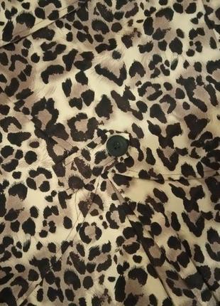 Хит сезона!фирменное леопардовое пальто плащ max5 фото
