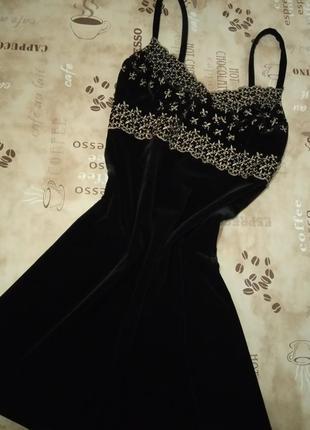 Sagaie франция платье фирменное чёрное маленькое