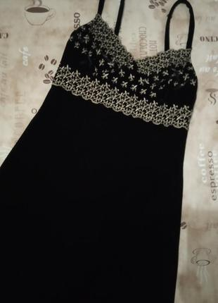 Sagaie франция платье фирменное чёрное маленькое6 фото