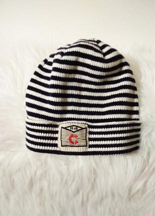 Полосатая хлопковая шапка бини от h&m