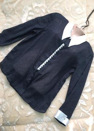 Распродажа новая блуза рубашка в горошек из италии недорого