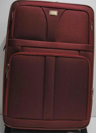 Дорожный тканевый чемодан (большой-бордовый) 19-03-018