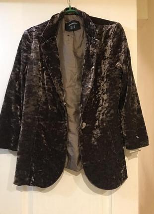 Велюровый, бархтный пиджак primark, 14