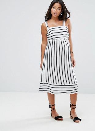 Платье в полоску new look (для беременных), размер 18 (см. замеры)