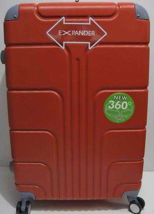Дорожный пластиковый чемодан (большой-оранжевый) 19-03-024