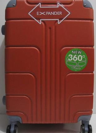 Дорожный пластиковый чемодан (средний-оранжевый) 19-03-025