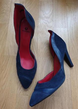 Оригинальные туфли из натуральной замши