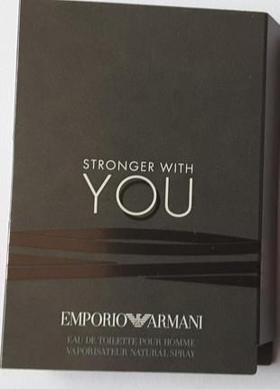 Пробник туалетной воды 1,2 мл giorgio armani emporio armani stronger with you, италия