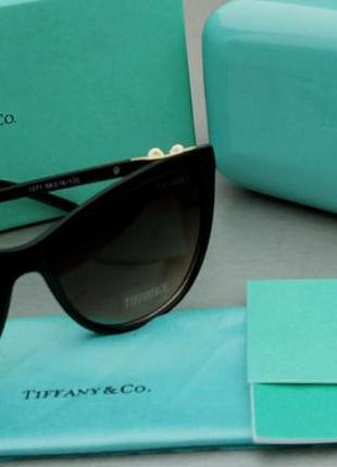 Tiffany & co очки женские солнцезащитные инкрустированые камнями