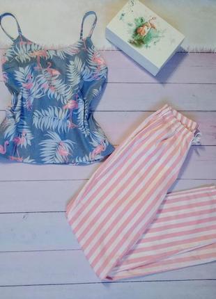Пижама, топ и пижамные штаны, одежда для дома