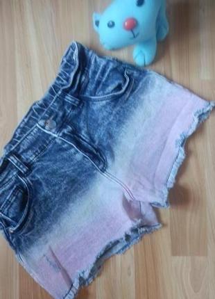 Фирменные джинсовые шорты f&f девочке 10-11 лет состояние отличное