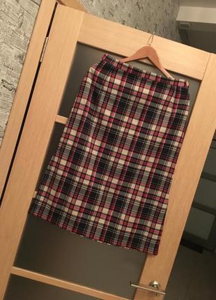 В продаже с 01.09! юбка миди в клетку с боковыми разрезами (бесплатная доставка)
