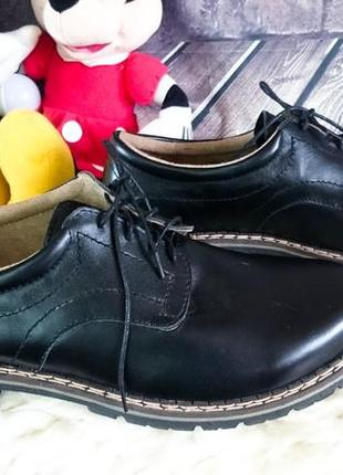 Мужские туфли. новые. натуральная кожа. ручной пошив.