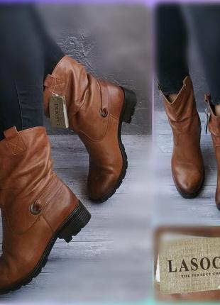 39р кожа!новые lasocki,утепленны,сапожки,ботинк
