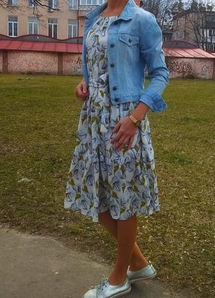 Платье миди в стиле бохо!оверсайз с-л!