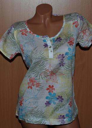 Летняя блуза бренда cecilia classics/100%хлопок /