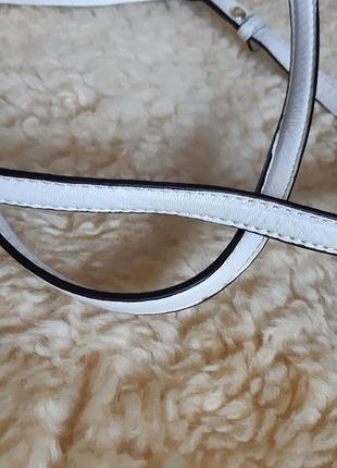 Женская сумка белая кожа calvin klein   оригинал7 фото