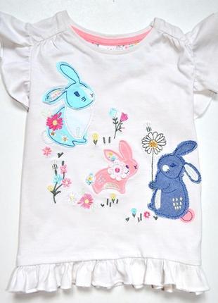 Mini club. футболка с зайцами. 18-24 см.