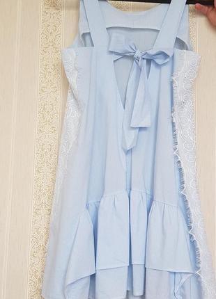 Суперлёгкое романтичное платьице в полоску