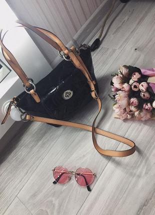 Нова лакова сумка/ сток