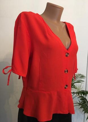 Блузка с завязками на рукавах4 фото