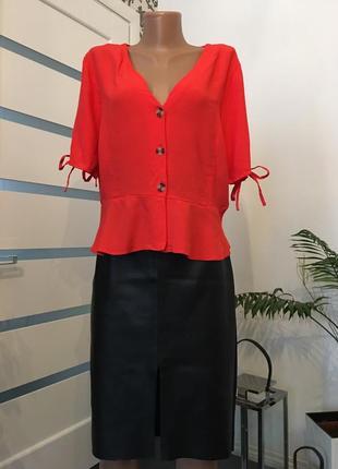 Блузка с завязками на рукавах6 фото