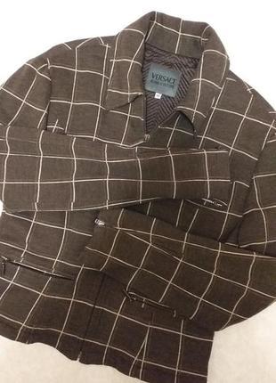 Приталенный  пиджак versace jeans couture, xl