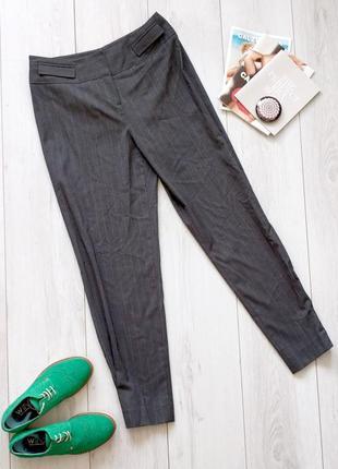Брюки штаны karen millen eu 40 s m в полоску серые