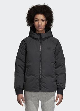 Куртка пуховик adidas з великим лого на спині розмір - 12
