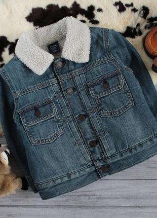 Стильная утепленная джинсовая куртка