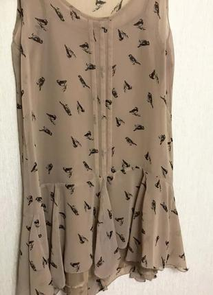 Платье с птичками m