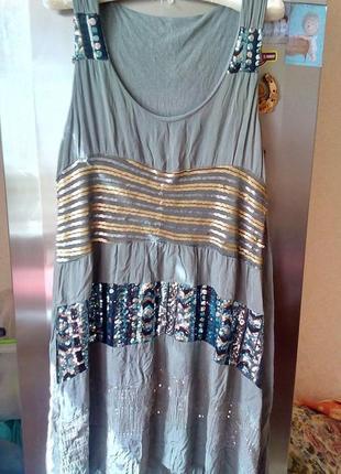 Летняя нарядная туника-платье --с-м р италия