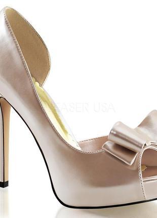 Летние кремовые туфли с открытым носком, бежевые брендовые босоножки