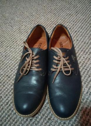 Стильные кожаные туфли раз.42